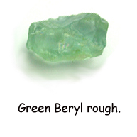 green beryl rough