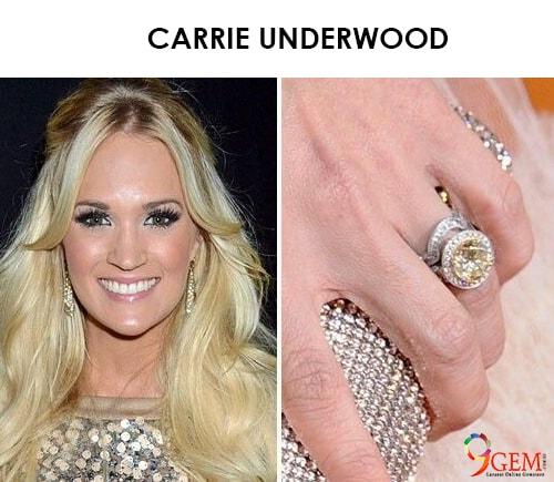 Carrie Underwood Yellow Diamond Ring