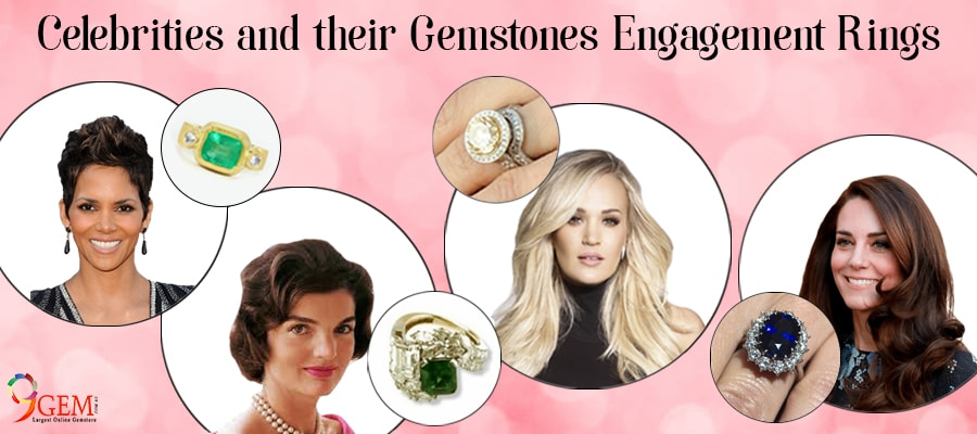 Celebrities And Their Gemstone Engagement Rings